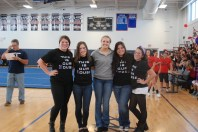 The volleyball seniors and captions.