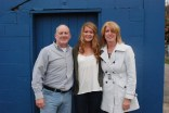 Molly Garrity with her parents