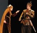 Lady Macbeth (Olivia Olsen) scolds Macbeth (Zach Murphy)
