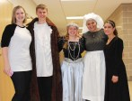 The cast of Romeo and Juliet: Mrs. Donovan, director, Markus Rohwetter, Victoria Pratt, Georgia Panagiotidis and Genesis Rojas.
