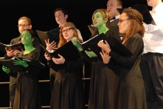 "Members of the Rockland High Chamber Choir a performance of ""Dear Old Shiz"" from the musical ""Wicked"""