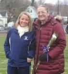 Senior Captain Krystin Killion with her Mom, Nancy