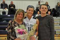 Lauren Farrell with her mom and brother