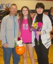 Abby Kinlin and her parents Keith and Katie