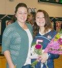 Adria Stephens with her mom, Tina