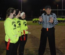 Juniors win the coin toss.