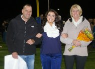 Kiera Tobin Rosman with her mom and dad, Mary and Dan