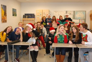 RHS SGC's Executive Board gets silly at their monthly meeting.
