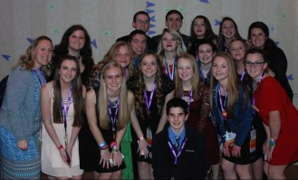RHS's MASC delegates pose with RHS SGC Advisors, Kristen Walsh and Joanne White.