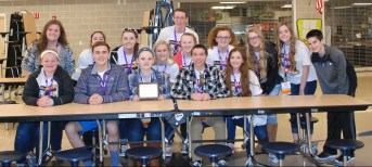 RHS SGC's MASC delegates pose with the Council's new Gold Council Award.