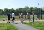 Members of Mr. Neal's AP Literature class celebrate the last day with a class spent outside