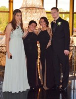 Sam Lynch, second from left and Marina McCauley, next to Lynch with their prom dates.