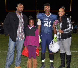 Jakigh Marcelin with his parents Chauntaye and Ricardo and sister, Kaelyn