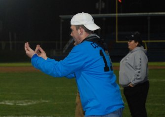 Mike McPeck calls the play.
