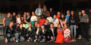 The cast and crew of Grease!