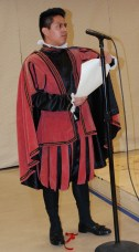 Elie Jones recited one of Shakespeare's sonnets