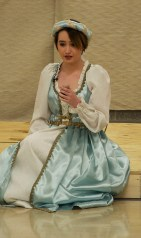 Jurnee Dunn as Juliet considers what she will encounter after she takes the sleeping potion provided by Friar Lawrence