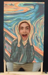 "Adam Royle fits into Edvard Munch's ""The Scream"" painting."