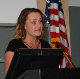 Junior class president, Hannah Boben
