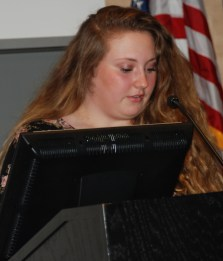 Senior class head rep, Hannah Millen