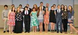 Twenty juniors were inducted into the National Honor Society on May 17. From left back: Ronan McNally, Joseph Naughton, Sean Sugrue, Harrison O'Brien, Eden Dalton, Aiden Glennon, Chris Penney, James White, Stephanie Blaney. Front from left: Saoirse McNally, Jillian Schofield, Alex Domina, Rebekah Panaro, Lily Matson, Isabella Uong, Margaret Jones, Matt O'Brien, Rebecca Eliott, and Meredith Long. Missing from photo is Zachary Peterson.