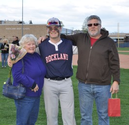 Jake Hughes with his grandmother and his dad, William.