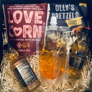 corny whiskey lover hamper