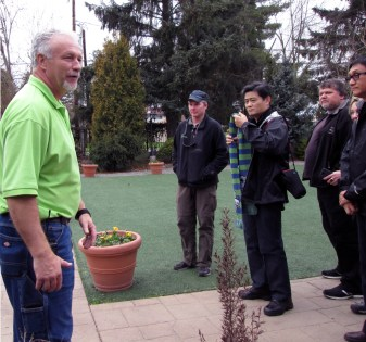 Ben DeGoede, owner of Windmill Gardens, gave a tour.