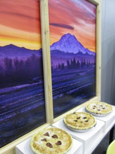 Berryland Cafe's pies looked right at home under a view of Mt. Rainier from the Sumner area.