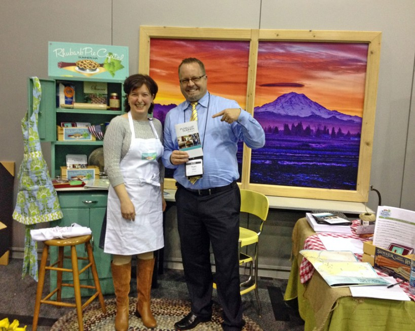 Ryan Olson of Simpson's Trailhandler Tours loved the booth.