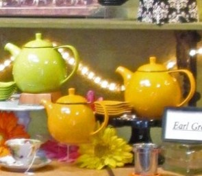 Even the Tea Madame's pots offered a colorful moment for photographs.