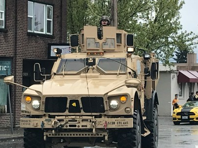 Sumner's Connetor Unit, the 13th CSSB came from JBLM to enjoy Sumner's parade.
