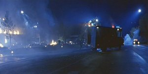 The scene of carnage outside Cyberdybe systems after Sarah & Co. attack.