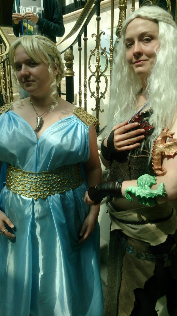 Me and another Daenerys cosplayer!
