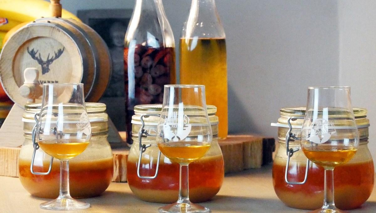 Rhum arrangé pomme et compote au caramel beurre salé