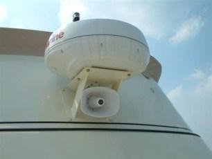 Radar and loud speaker mount