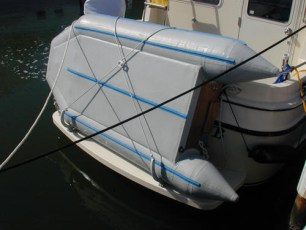 A dinghy mounting system