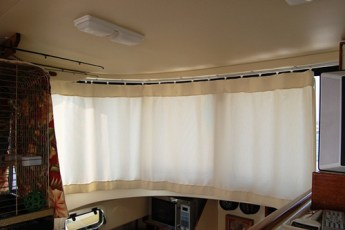 Owner installed front curtains
