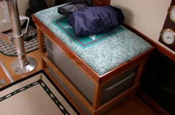 Freezer unit with custom seat