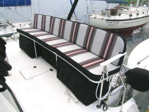 Storage under aft bench