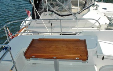 Folding custom flybridge table - closed