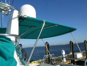 Custom aft cockpit bimini - hull 91