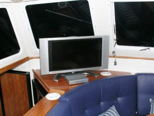 27-inch TV in saloon