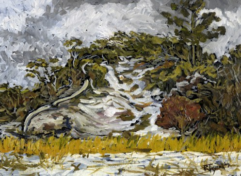 """Clinch Dune Study #4, oil on canvas, 9"""" x 12"""" - AVAILABLE"""