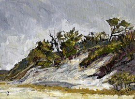 "Clinch Dunes Study #2, oil on canvas, 8"" x 10"" - AVAILABLE"