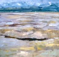 "Low Tide #1, Acrylic on Lauan Panel, 48"" x 48"", SOLD"