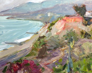 "Pacific Palisades View, oil on panel, 9"" x 12"" - SOLD"