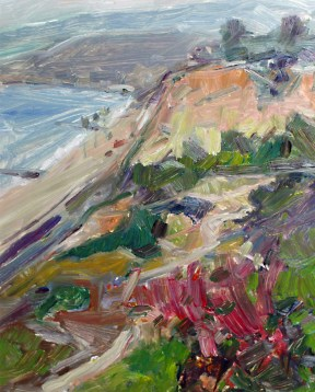 "Pacific Palisades View #2, oil on panel, 9"" x 12"" - SOLD"
