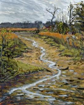 "Savannah NWR Low Tide, Acrylic on Panel, 9"" x 12"" - SOLD"
