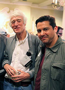 Rhyan Taylor with Roger Deakins at ASC Clubhouse